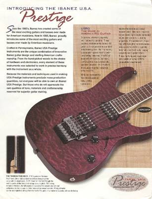 American made Ibanez guitars