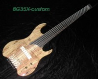 "35"" scale spalted bass"